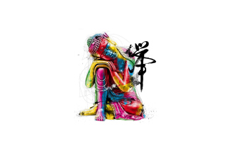 Colorful Buddha Picture for Android, iPhone and iPad