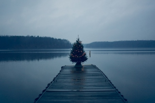 Blue Christmas Background for Android, iPhone and iPad