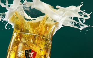 Beer Foam Wallpaper for Android, iPhone and iPad