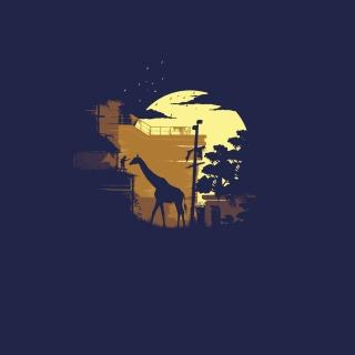 Giraffe Illustration - Obrázkek zdarma pro 208x208