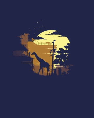 Giraffe Illustration - Obrázkek zdarma pro Nokia C7