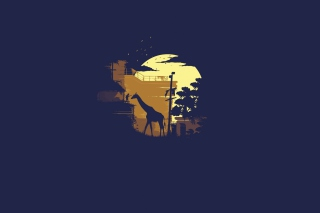 Giraffe Illustration Wallpaper for Android, iPhone and iPad