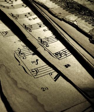 Old Music Sheets - Obrázkek zdarma pro 320x480