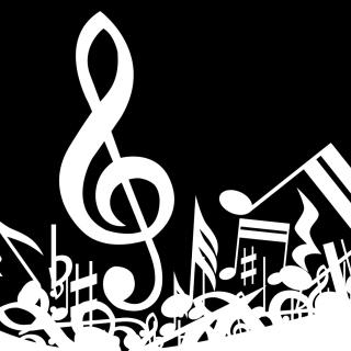 Music Background - Obrázkek zdarma pro 1024x1024