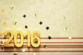 2016 New year Congratulations - Obrázkek zdarma pro 720x320