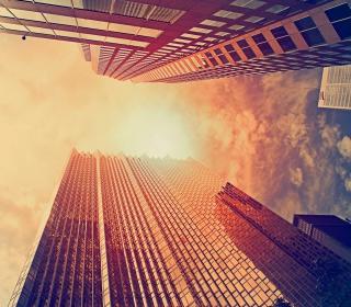 Sunlight On Skyscrapers - Obrázkek zdarma pro 320x320