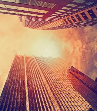 Sunlight On Skyscrapers - Obrázkek zdarma pro 360x640