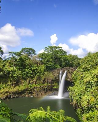Waimoku Hawaii Waterfall - Obrázkek zdarma pro Nokia 206 Asha