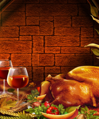 Thanksgiving Dinner - Obrázkek zdarma pro Nokia Asha 300