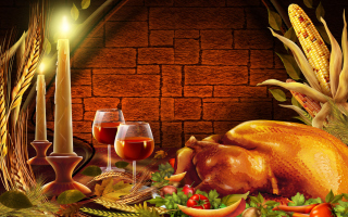 Thanksgiving Dinner Wallpaper for Android, iPhone and iPad