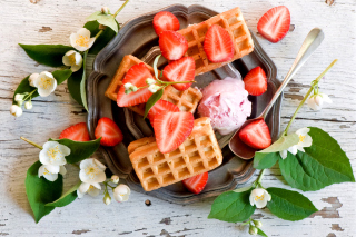 Free True Belgian Waffles Picture for Android, iPhone and iPad