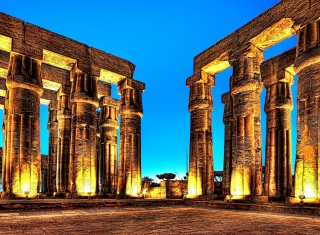 Luxor In Egypt Background for Android, iPhone and iPad