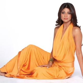 Shilpa Shetty in Orange Dress - Obrázkek zdarma pro 128x128