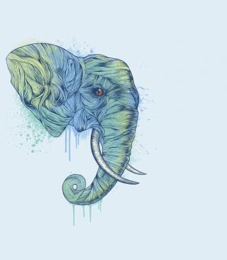 Elephan Head - Obrázkek zdarma pro iPhone 4S
