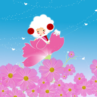 Flower Friends - Obrázkek zdarma pro iPad Air