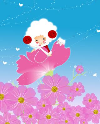 Flower Friends - Obrázkek zdarma pro 128x160
