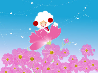 Flower Friends Wallpaper for Android, iPhone and iPad