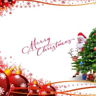 Merry Christmas Card - Obrázkek zdarma pro 208x208