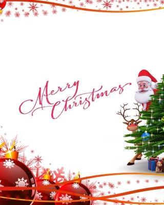 Merry Christmas Card - Obrázkek zdarma pro 480x640