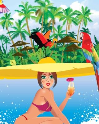 Tropical Girl Art - Obrázkek zdarma pro Nokia C1-01