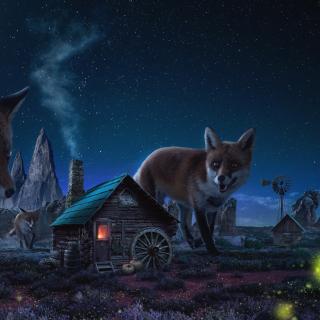 Fox Demons - Obrázkek zdarma pro iPad