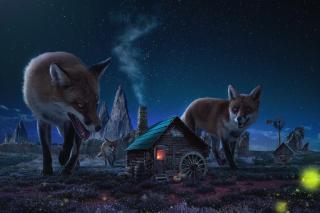 Fox Demons - Obrázkek zdarma pro Samsung Galaxy A
