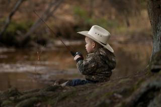 Fisherman Kid - Obrázkek zdarma pro Samsung Galaxy Note 4