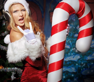 Very Cool Santa Girl - Obrázkek zdarma pro iPad mini 2