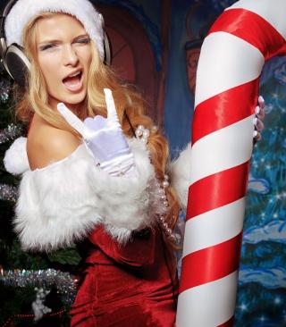 Very Cool Santa Girl - Obrázkek zdarma pro 132x176