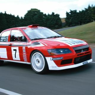 Mitsubishi Lancer Evolution WRC - Obrázkek zdarma pro 128x128