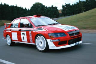 Mitsubishi Lancer Evolution WRC - Obrázkek zdarma pro Motorola DROID