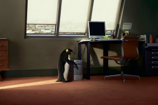 Penguin and Computer - Obrázkek zdarma pro Android 640x480