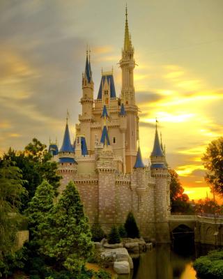 Disneyland Castle - Obrázkek zdarma pro 128x160