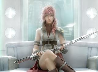 Lightning - Final Fantasy - Obrázkek zdarma pro 480x360