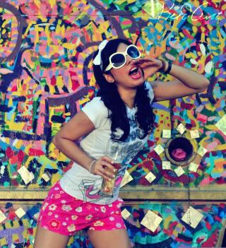 Graffiti Girl - Obrázkek zdarma pro 208x208