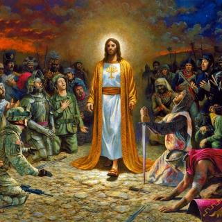 Soldiers & Jesus - Obrázkek zdarma pro iPad