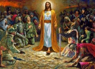 Soldiers & Jesus - Obrázkek zdarma pro 1024x600