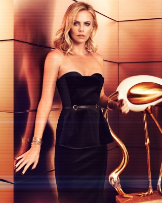 Charlize Theron on Oscar Awards - Obrázkek zdarma pro Nokia Asha 502