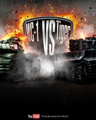 World of Tanks Tiger VS IC1 sfondi gratuiti per Nokia Asha 306