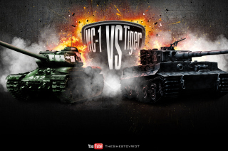 World of Tanks Tiger VS IC1 Picture for Android, iPhone and iPad