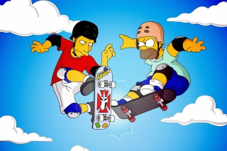 Homer Simpson and Tony Hawk Wallpaper for Android, iPhone and iPad
