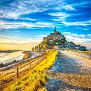 Normandy, Mont Saint Michel HDR - Obrázkek zdarma pro iPad mini