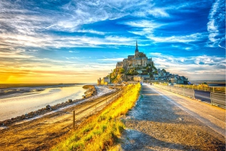 Normandy, Mont Saint Michel HDR - Obrázkek zdarma pro Widescreen Desktop PC 1920x1080 Full HD