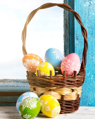 Easter eggs in basket - Obrázkek zdarma pro iPhone 4S