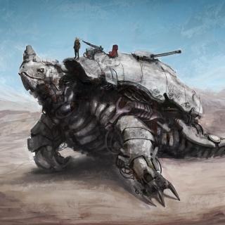 Apocalyptic Turtle - Obrázkek zdarma pro 320x320