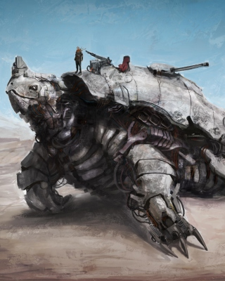 Apocalyptic Turtle - Obrázkek zdarma pro Nokia Asha 503