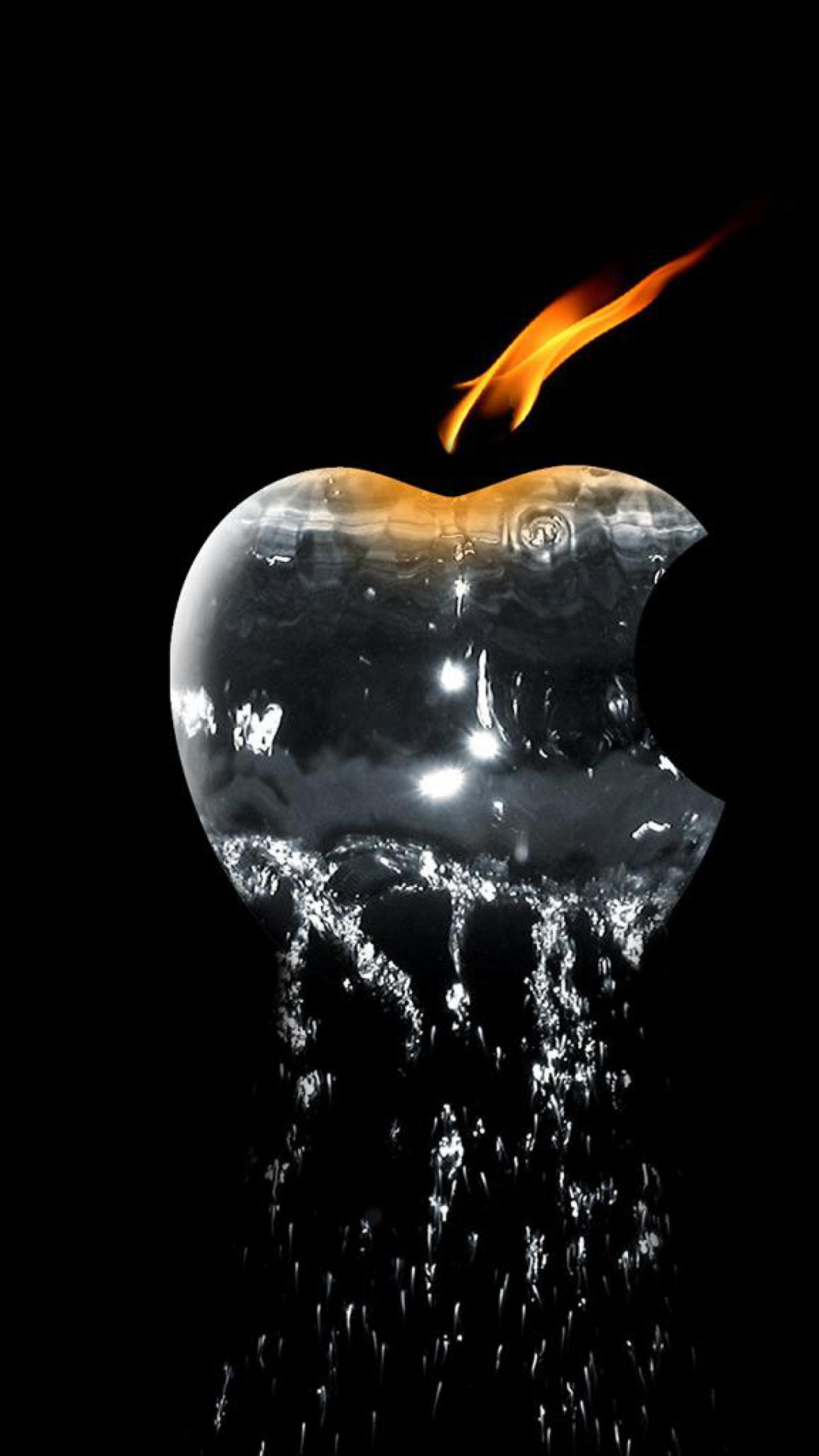 Apple Ice And Fire Wallpaper for iPhone 6 Plus