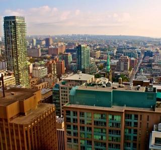 Toronto Cityscape - Obrázkek zdarma pro iPad