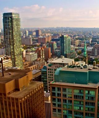Toronto Cityscape - Obrázkek zdarma pro Nokia Asha 300