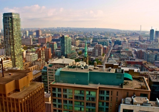 Toronto Cityscape - Obrázkek zdarma pro Nokia XL